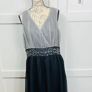 Empire waist evening dress
